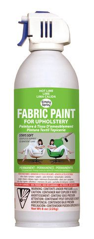 Hot Lime Upholstery Fabric Paint