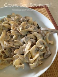 When you need easy dinner recipes, Ground Beef Stroganoff is simple, uses easy ingredients, and whips up quickly! It's the perfect weeknight meal and you'll find that you'll want to keep these ingredients on hand so you can have it as a go-to meal!
