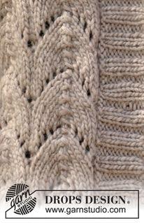 Bibliothèque de points DROPS: Points texturés Baby Knitting Patterns, Knitting Stiches, Cable Knitting, Free Knitting, Stitch Patterns, Crochet Patterns, Drops Design, Drops Patterns, Textures Patterns