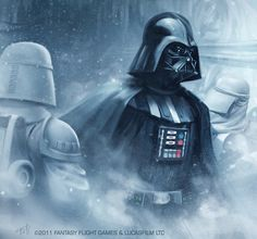 Okay, so start playing the Imperial March on youtube, come back, and then look at it all over again for maximum effect. This image of Darth Vader and his loyal snowtroopers is from Fantasy Flight's...