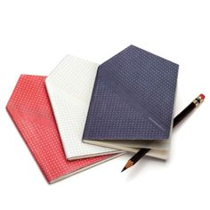 A pocket notebook shaped like a cloth pocket square. Perfect for dapper gentlemen of the lindy hop persuasion.