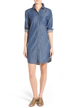 Eileen Fisher Classic Collar Chambray Shirtdress