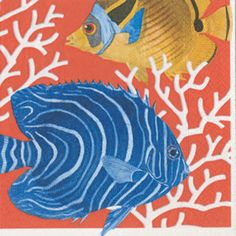 Coral Reef Paper Luncheon Napkins - 20 per package