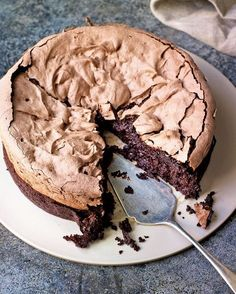 The two contrasting layers in Eric Lanlard's recipe – one gooey and rich and the other crunchy with a marshmallow centre – makes one incredible dessert.