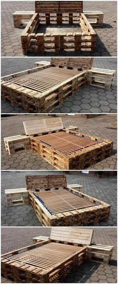 pallet diy recycling bed ideas