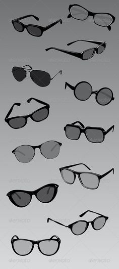 Vector Eyeglasses  #GraphicRiver         Set of twelve eyeglasses, Completely vector! The image is made up entirely of vector shapes so you may resize to whatever size you need. You can easily change the color of the lenses and of the frame as you like!  	 What is essential is invisible to the eye, but sometimes you need eyeglasses!     Created: 8October13 GraphicsFilesIncluded: VectorEPS #AIIllustrator Layered: Yes MinimumAdobeCSVersion: CS4 Tags: accessory #black #eye #eyeglasses #eyesight…