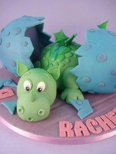 Dino fondant cake