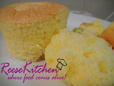 ReeseKitchen: Mango Yogurt Chiffon Cupcake