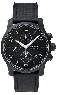 Hands-on with the 2014 Montblanc Timewalker Extreme chronograph watch in a matte black DLC coated case.
