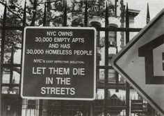 Grand Fury's advertising in the Petrosino Park Installation New York 1990. Gran Fury was an AIDS activist artist collective from New York City. [548 x 391]