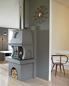 How to make a wood stove stylish...