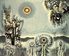 "inland-delta: "" Charles Burchfield, Sultry Moon, 1959 """