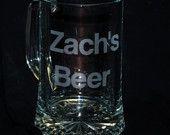 8 Etched Beer Mugs, Personalized Beer Mug, engraved Glasses, Wedding Favor , engraved mug. 19 oz