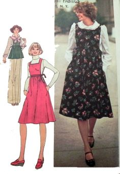 Simplicity 7372  Jumper or top and blouse by retroactivefuture, $5.00
