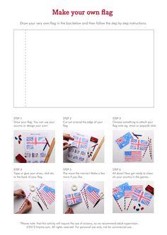 Flag Activities :: Free Printables :: Tinyme.com