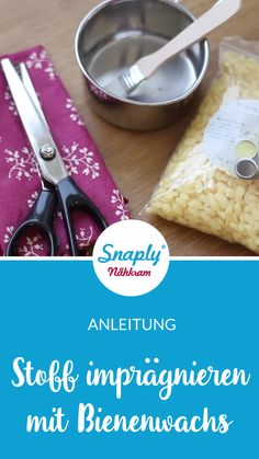 Anleitung: Stoffe mit Bienenwachs imprägnieren Coating & impregnating fabric with beeswax – Instructions & Tutorial the fabric Diy Craft Projects, Diy Crafts Videos, Diy And Crafts, Diy Videos, Garden Projects, Upcycled Crafts, Kids Crafts, Pot Mason Diy, Mason Jar Crafts