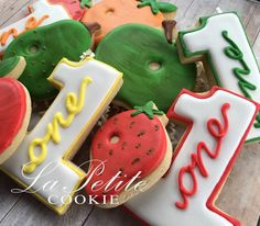 Very Hungry Caterpillar Birthday Sugar Cookies 1 by LaPetiteCookie