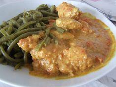 Curry de poulet au Micro-ondes