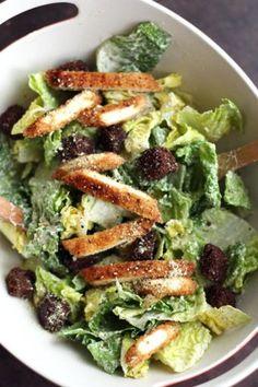 Vegan Crispy Chick'n Caesar Salad