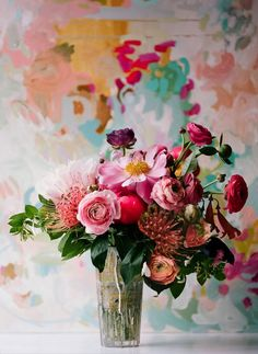 flowers & michelle armas painting, via once wed | camille styles