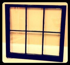 Custom Ordered Barn Window with Dark Brown Stain