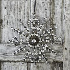 Large Antique Jewelled Snowflake   Christmas Tree Decorations   Holidays   The White Company US
