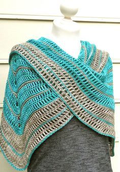 Very pretty and simple pattern. TRANQUILLE LACE SHAWL CROCHET PATTERN