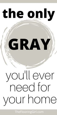 This gray paint shade goes with almost everything.  It's a warm gray that complements both warn and cool tones, and it works in virtually every room of the home.  #greige #reposegray Neutral Paint Colors, Interior Paint Colors, Paint Colors For Home, Gray Paint, Paint Color Schemes, Painting Tips, House Painting, Room Colors, Wall Colors