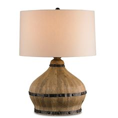 "Currey & Company Farmhouse 31"" H Table Lamp with Drum Shade"
