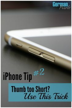 iPhone Tip 2 - Thumb too short? Can't reach all the apps or links on your iPhone? Use this feature to help you use your iPhone one-handed.