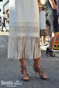 #NYFW We also saw a great deal of fringe in both clothes and accessories.