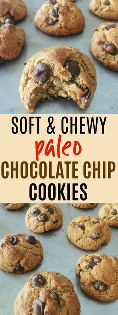 These paleo chocolate chip cookies are THE BEST I've ever had! I love that they're gluten-free, grain-free, dairy-free, and refined sugar free. They're made with almond flour and sweetened with honey! Plus they're super easy to make and I already had all the ingredients on hand! They're soft and chewy and absolutely delicious! Definitely pinning! #paleo #grainfree #glutenfree #dairyfree