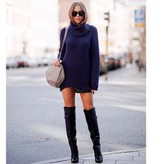 Sweater and boots!