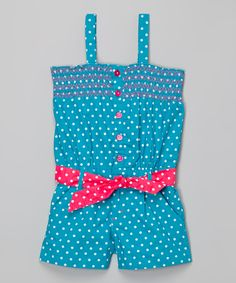 Pink House Blue Polka Dot Romper - Infant, Toddler & Girls | zulily