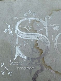 FleaingFrance.....silver gilded lettering on an antique French box