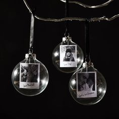 Polaroid Glass Personalised Christmas Bauble by SophiaVictoriaJoy