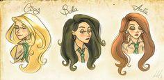 Black Sisters Anime    Narcissa Black  Bellatrix Black  Andromeda Black