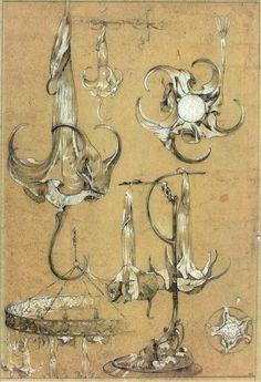 Alfons Maria Mucha / Documents Décoratifs - Dessins préparatoires