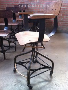 Antique Industrial Toledo Reproduction Bar by VintageIndustrial
