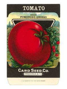 Tomato Seed Packet Premium Poster at Art.com