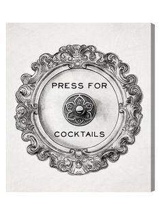 Press for Cocktails (Canvas) from Boss Lady: Office Decor