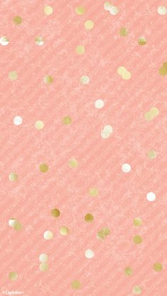 Coral peach gold confetti dots iphone background wallpaper phone lock screen