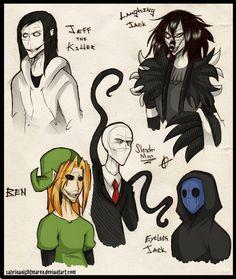 Creepypasta Doodles... Again Durrhurr by SabrinaNightmaren on DeviantArt
