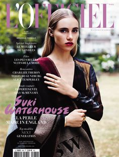 Retrouvez Suki Waterhouse en couverture de L'Officiel de la Mode d'octobre 2014