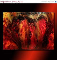 Contemporary Abstract Painting Oversize by newwaveartgallery, $870.00