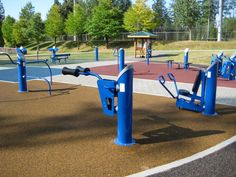 Parkgate Seniors Fitness - North Vancouver, BC Landscape Structures HealthBeat Fitness System