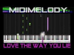 Love The Way You Lie (Part II) Synthesia Piano Tutorial Rihanna ft ...