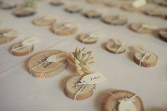 wooden stump escort card/name tag, Event Designer/Coordinator: So Happi Together, He and She Photography #wedding #reception
