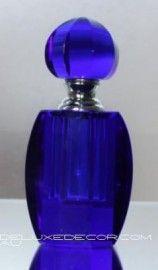 Elegant Crystal Glass Perfume Bottle 3050-2S BL