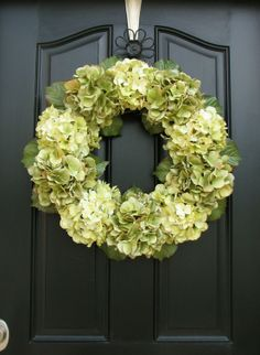 Wreaths - Hydrangea Wreaths - Click image to find more Home Decor Pinterest pins